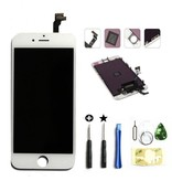 Compleet LCD/display/scherm voor Apple iPhone 6 Wit + toolkit + tempered glass screenprotector (White)