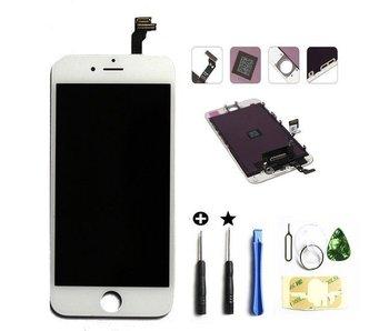 Compleet originele kwaliteit LCD scherm voor Apple iPhone 6 Wit + toolkit + tempered glass screenprotector