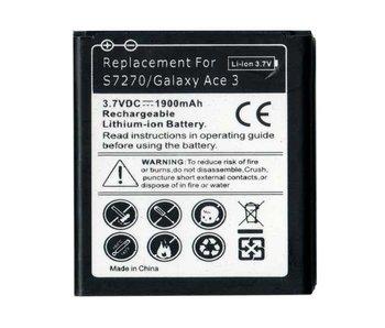 High capacity batterij 1900 mAh voor Samsung Galaxy Ace 3 S7270 (sterke accu)