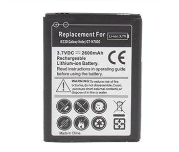 High capacity batterij 2600 mAh voor Samsung Galaxy Note 1 N7000 (sterke accu)