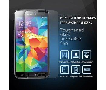 Screenprotector ECHT GEHARD GLAS voor Samsung Galaxy S5 (tempered glass/gehard glas)