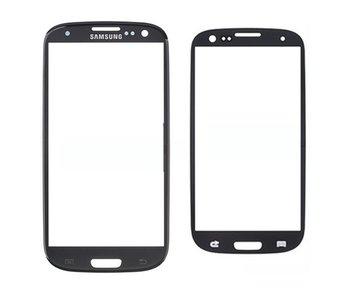 Scherm glas geschikt voor Samsung Galaxy S3 i9300 Zwart / Black reparatie onderdeel