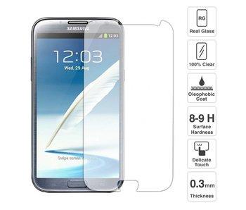 Screenprotector ECHT GEHARD GLAS voor Samsung Galaxy Note 2 (tempered glass/gehard glas)