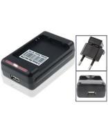 Externe oplader voor de batterij van Samsung Galaxy Note 2 met USB accu lader