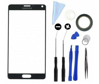 Scherm glas geschikt voor Samsung Galaxy Note 4 N910F Zwart met professionele complete toolkit en handleiding