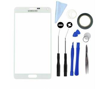Scherm glas geschikt voor Samsung Galaxy Note 2 N7100 Wit met professionele complete toolkit en handleiding