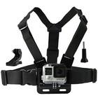 Verstelbare chest strap harness mount borst bevestiging inclusief J-Hook! voor o.a. GoPro Hero 6/ 5/4/3+/3 en SJCAM