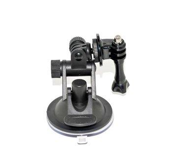 Dashcam auto bevestiging car suction cup mount zwart voor GoPro Hero 6/5/4/3+/3 en andere actiecamera's