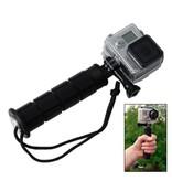 Premium stabalizer grip monopod zwart voor GoPro Hero en andere actiecamera's hand houder