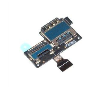 Simkaart Tray SD Card Lezer voor Samsung Galaxy S4 mini i9195 i9190 kaart houder reparatie onderdeel