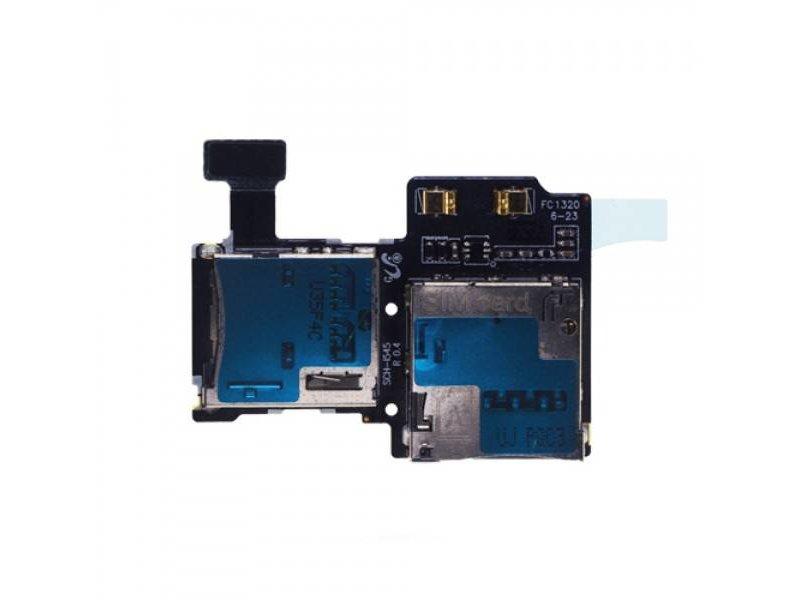 Simkaart Tray SD Card Lezer voor Samsung Galaxy S4 geheugen kaart houder reparatie onderdeel