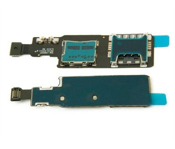 Simkaart Tray SD Card Lezer voor Samsung Galaxy S5 Mini G800F Geheugen kaart houder reparatie onderdeel