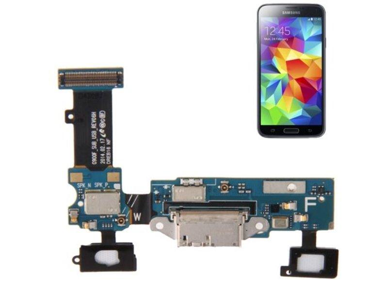Charging Port Flex touch voor Samsung Galaxy S5 i9600 oplaadpoort micro-usb connector reparatie onderdeel