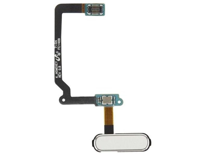 Home button WIT voor Samsung Galaxy S5 i9600 compleet reparatie onderdeel (thuis knop)