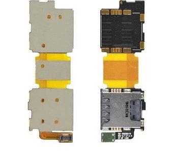 Simkaart Tray SD Card Lezer voor Samsung Galaxy S5 geheugen kaart houder reparatie onderdeel