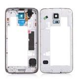 Midden Frame voor Samsung galaxy S5 i9600 Silver behuizing reparatie onderdeel