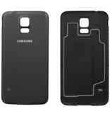 Back cover voor Samsung Galaxy S5 i9600 achterkant zwart batterij klepje