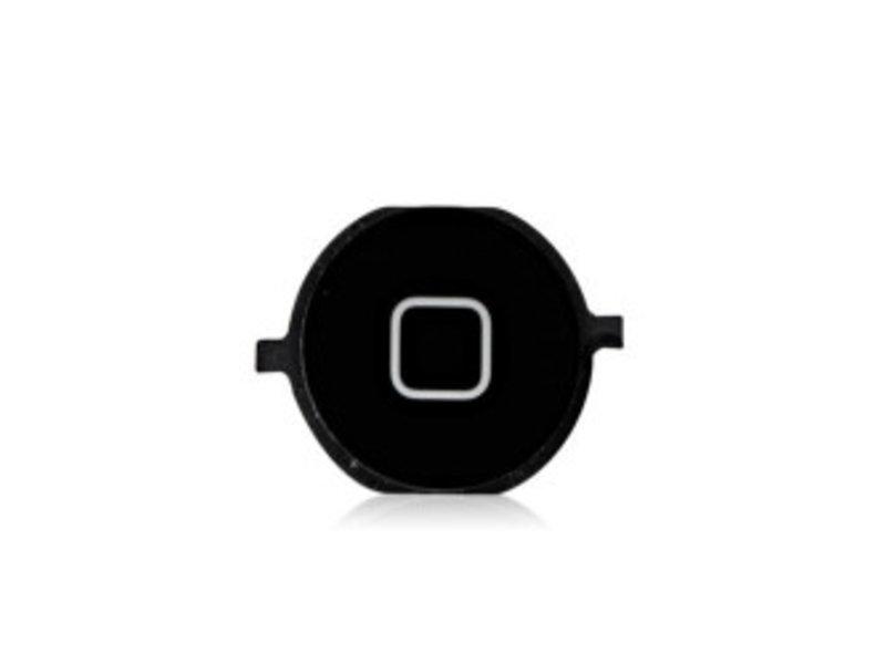 Home button knop voor Apple iPhone 4/4S zwart / black reparatie onderdeel