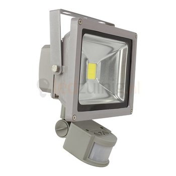 20 watt led bouwlamp met sensor - 2800K (warm-wit) - 1650 lumen