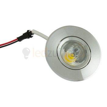 3 watt complete led inbouwspot (rond) - Warm-wit - Kantelbaar - 270 lumen