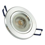 Aluminium GU10 inbouwspot (rond) met 7 watt led lamp - 605 lumen