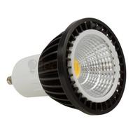 GU10 led spot - 3 watt warm-wit - 200 lumen (zwart)