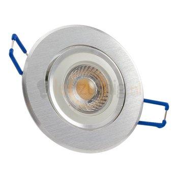 GU10 inbouwspot van geborsteld aluminium (rond) met 7 watt led lamp - 605 lumen