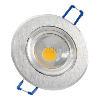 GU10 inbouwspot van geborsteld aluminium (rond) met 3, 5, of 7 watt led lamp