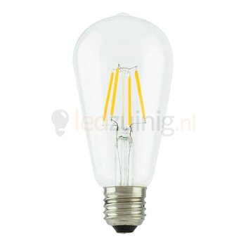 Retro dimbare led lamp - Echt glas - E27 -  Extra warm-wit - Druppelvorm