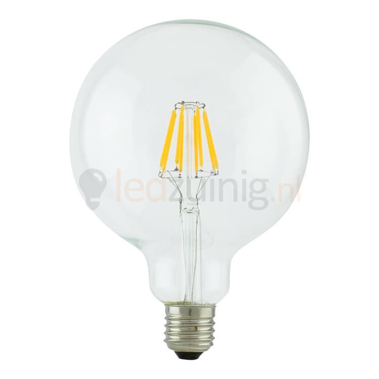 Fabulous Led lamp van echt glas - Retro look - Met lichtdraden - Grote bol PP02