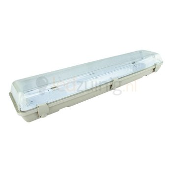 Led TL armatuur voor 2 x 60 cm led TL - IP65 waterdicht