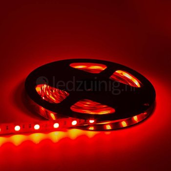 5 meter led strip - Rood - 60 leds per meter - IP65