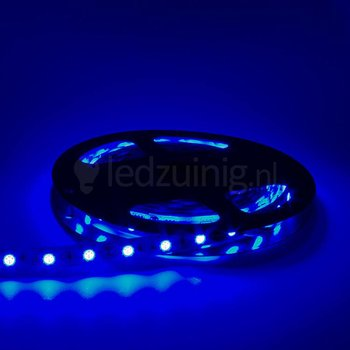 5 meter led strip - Blauw - 60 leds per meter - IP65