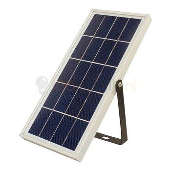 10 watt solar schijnwerper met zonnepaneel en accu