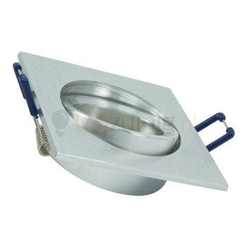 GU10 armatuur - Kantelbaar - Vierkant - Geborsteld aluminium