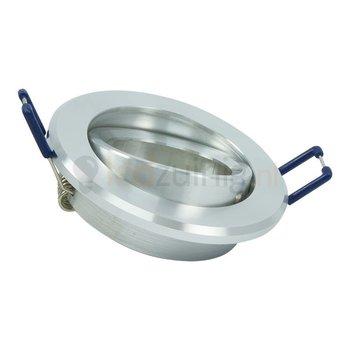 GU10 armatuur - Kantelbaar - Rond - Gepolijst aluminium