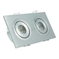 2 x 1 watt complete led inbouwspot - Warm-wit - Dimbaar & kantelbaar - 180 lumen