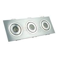 3 x 1 watt complete led inbouwspot - Warm-wit - Dimbaar & kantelbaar - 270 lumen
