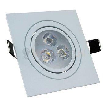 3 watt kantelbare led inbouwspot - Dimbaar - Warm-wit- 270 lumen - Wit