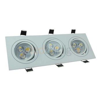 3 x 3 watt kantelbare led inbouwspot - Dimbaar - Warm-wit- 810 lumen - Wit
