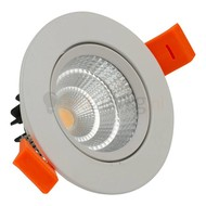 10 watt kantelbare led inbouwspot - 1100 lumen (hoog rendement) - Warm-wit