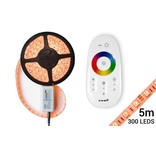 Mi·Light RGB LED strip met RF Remote & Adapter (5M, incl. controller & voeding)