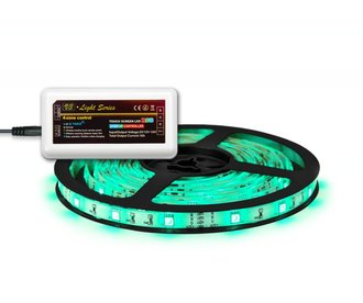RGB LED strip 5M,150 leds, via Wifi & RF te bedienen (uitbreiding)