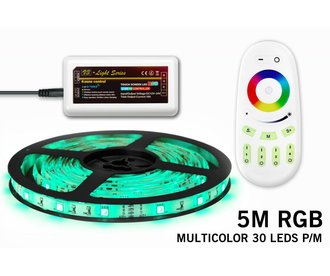 Mi·Light RGB LED strip 5m met afstandsbediening, type 5050, 30 LED's p.m.