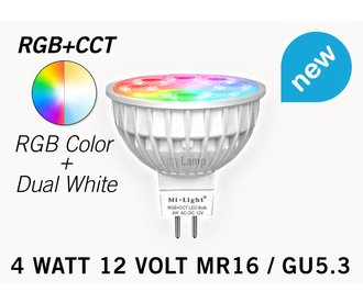 Mi·Light Mi-light 4W RGBW & Dual White 12V MR16 GU5.3 LED Spot