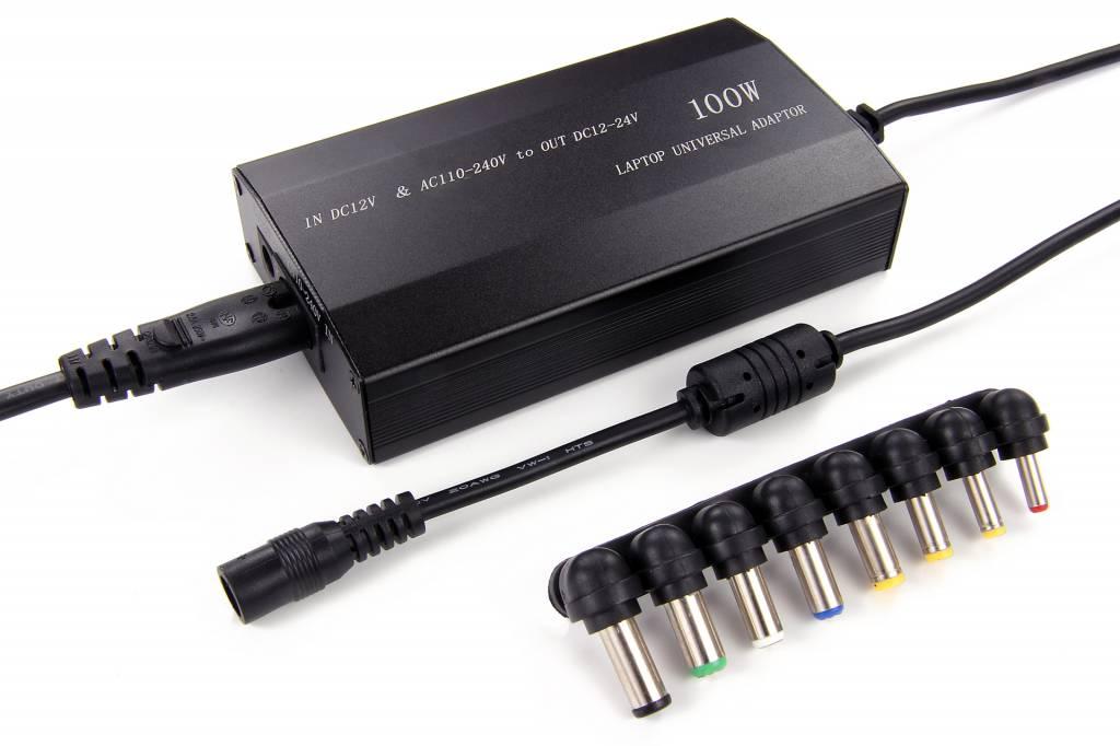 Universele Adapter DC 12-24 Volt 100 Watt | Met 5 Volt USB Aansluiting