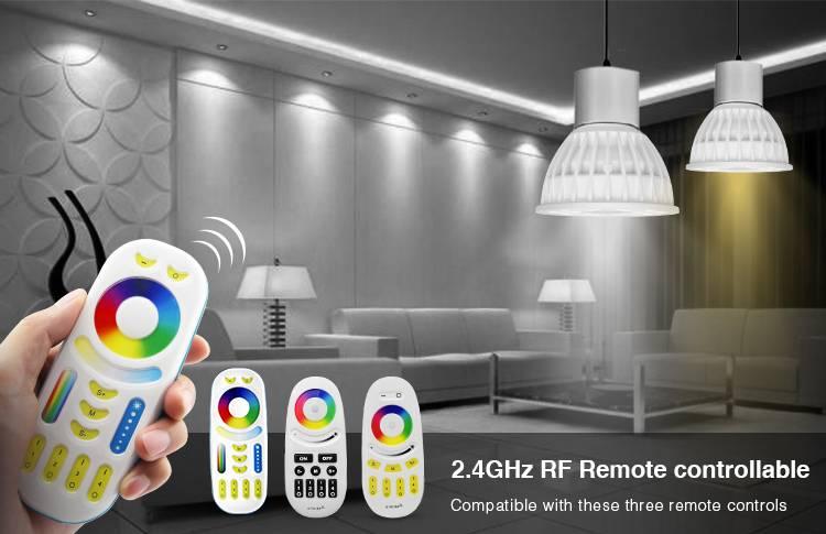 GU10 RGBWW 4W Wifi Ledspot(s) set met afstandsbediening.  Mi-Light  Kleur + Dual White  GU10 Starterskit