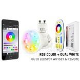 Mi·Light GU10 RGBWW 4W Wifi Ledspot(s) set met afstandsbediening.  Mi-Light  Kleur + Dual White  GU10 Starterskit