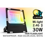 Mi·Light LED Schijnwerper Mi-Light 30W RGBWW Kleur + Dual White. IP65 Spatwaterdicht 220V
