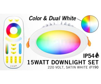 Mi·Light Mi-Light 15W RGBWW LED Inbouwspot 220V + Afstandsbediening IP54